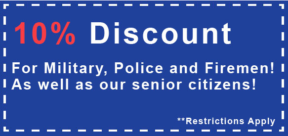 Charlotte HVAC discount coupon for military, police, firemen and seniors